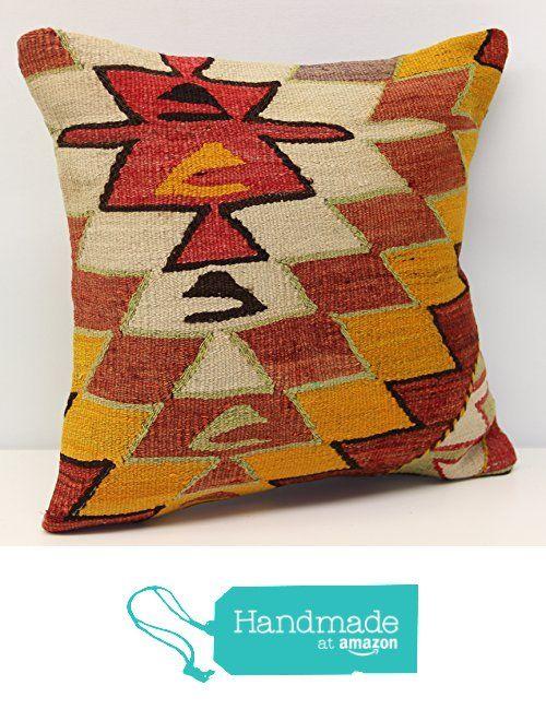 Throw kilim pillow cover 16x16 inch (40x40 cm) Decorative Boho kilim pillow cover Home Decor Natural Pillow cover Garden decor Kilim Cushion Cover from Kilimwarehouse https://www.amazon.com/dp/B06XYRQKKZ/ref=hnd_sw_r_pi_dp_yYN3yb3K5BWQK #handmadeatamazon