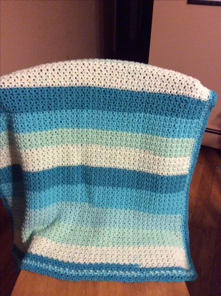Crochet Baby Blanket Made With Caron Cake Yarn I Used The
