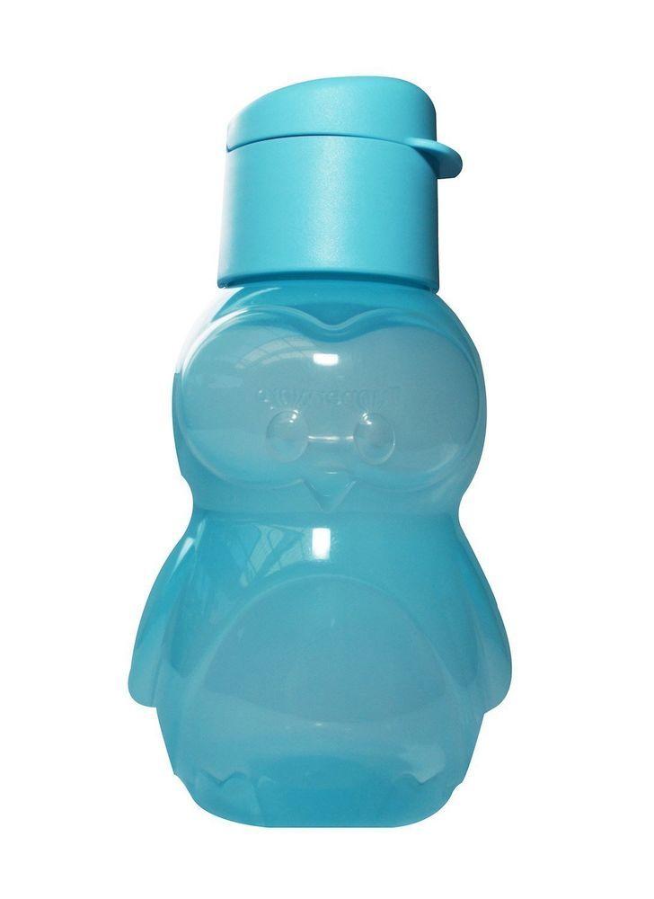 New Tupperware ECO Water Sports Bottle 12 Oz for Kids - Penguin - Light Blue