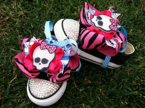 MONSTER HIGH Inspired Shoes Monster High Birthday by SparkleToes3