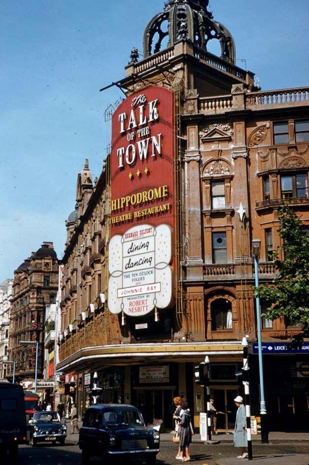 Leicester Square tube station and the London Hippodrome - 1963 (via Retronaut)