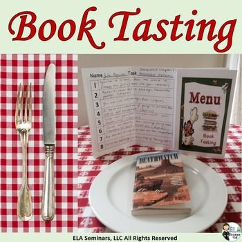 Book-Tasting and Text-Tasting Activities are fun and they help students make reading/writing connections. To run book-tasting or text-tasting events, you'll need several books, short stories or articles and menu covers with task sheet inserts.