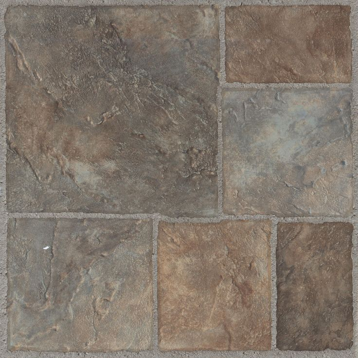 Colours Grey & Red Stone Effect Self Adhesive Vinyl Tile Pack 1.02 m² | Departments | DIY at B&Q