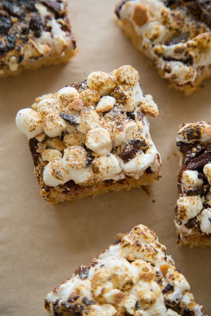 A recipe for S'mores Rice Krispies Treats!