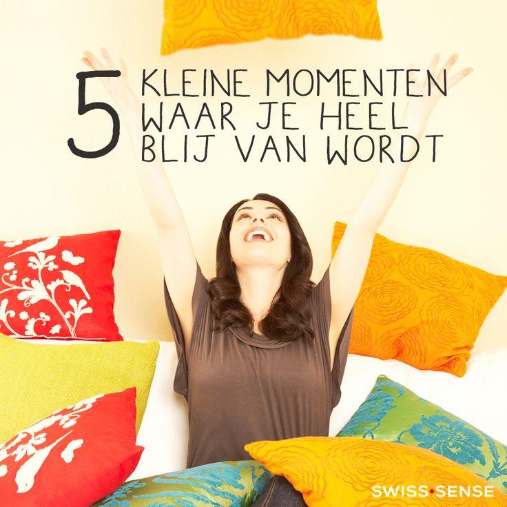 5 kleine momenten waar je heel blij van wordt | SwissSense.nl