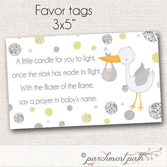 Baby Shower Favor - Light a Candle Baby Wishes Card