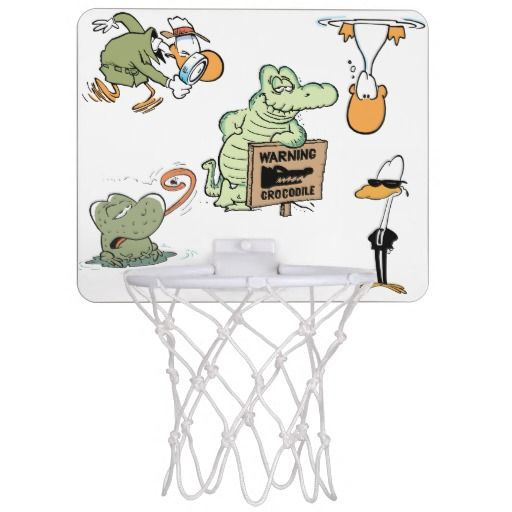 Shoot hoops at home or at the office. Aim for the cartoon covered back board. #zazzle #basketball #hoops #dunk #cheapgifts $29.95