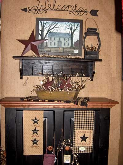 17 best ideas about country primitive on pinterest primitive country crafts country fall - Stars for walls decorating ...