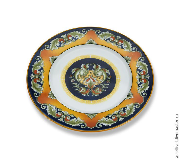 """Купить Тарелка декоративная """"Ах, Италия!"""" - фарфоровая тарелка, Тарелка декоративная, тарелка с росписью"""