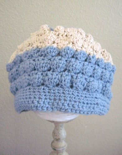 Valentine's is coming. Do you have something special to give? Hand made One of a Kind Crocheted Bubble Bonnet Hat