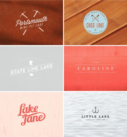 a designer is making a logo a day for each lake in minnesota...10,000