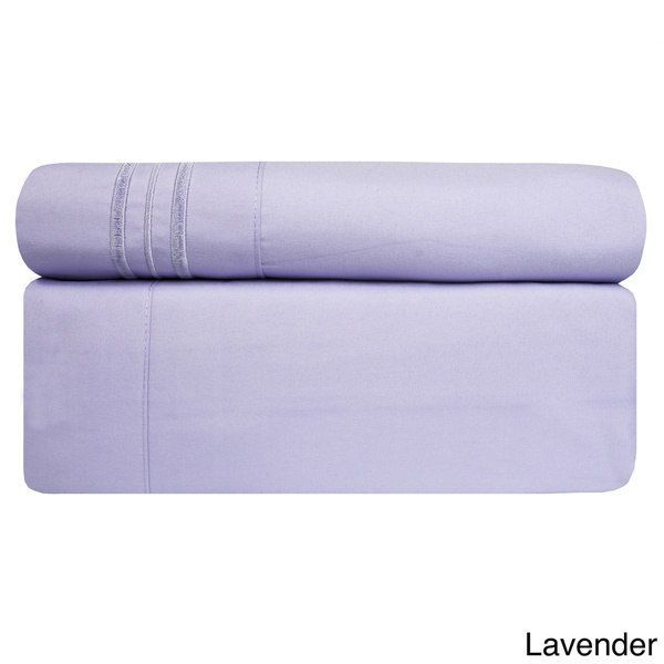 3 Piece Lavender TWIN Bed Sheet Set Fitted Flat Pillowcase Free Shipping New