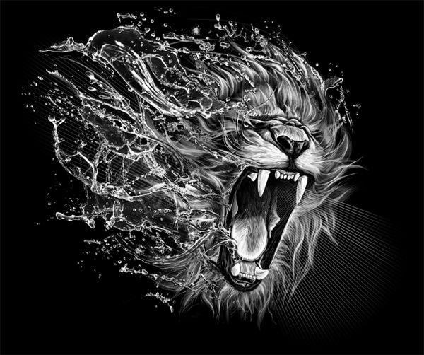 Lion by Kamila Sharipova, via Behance