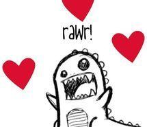 Inspiring picture cute, dinosaur, draw, love.