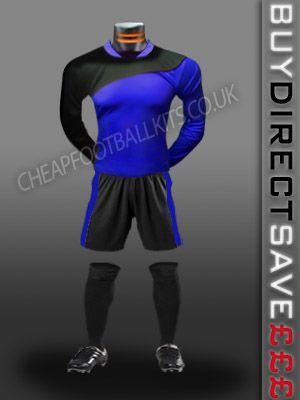 Champion Discount Football Kit Royal/Black