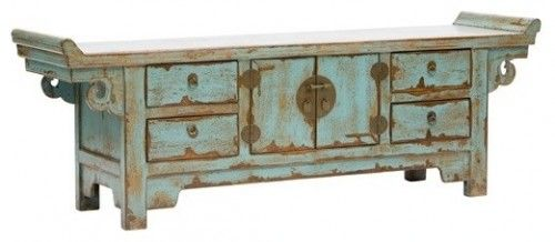Low Sideboard  This unique and exotic sideboard will add Asian style to your home. Let it be the one distressed piece in the room that hogs a lot of attention! more »  $1,099.00 | High Fashion Home