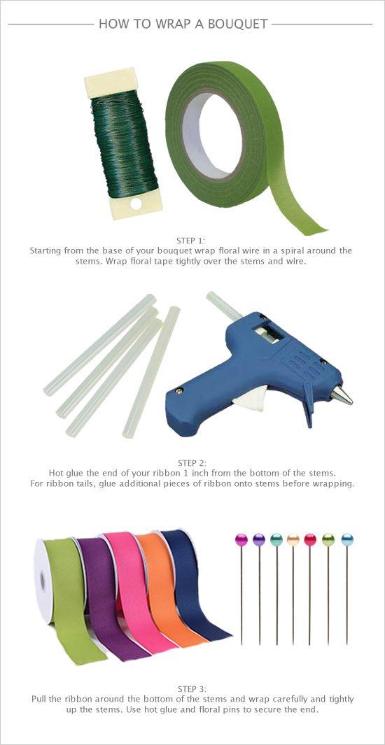 How to wrap a bouquet DIY. #weddingchicks http://www.weddingchicks.com/2014/06/25/how-to-wrap-your-own-bouquet/
