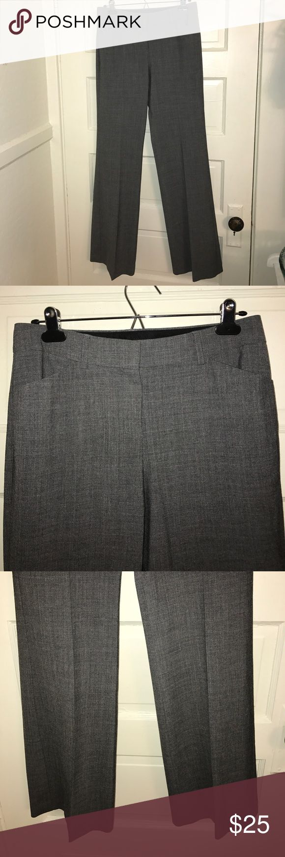 """SALE❤️ Express Editor dress slacks charcoal 4 Express Editor dress slacks pants size 4. Charcoal gray. Inseam measures 33"""". Worn once. Like new. Express Pants Trousers"""