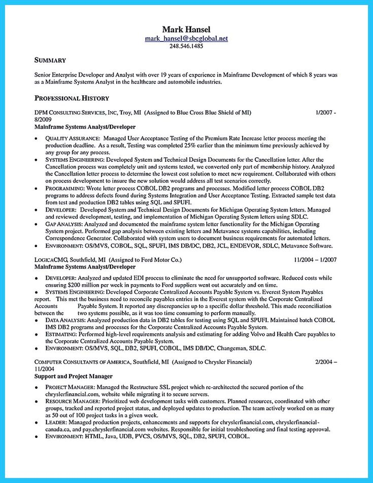 Project Analyst Resume Sample Click Here To Download This Business