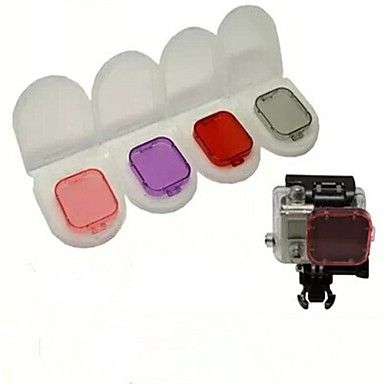 Gopro Hero3 Four Color Filter Lens Group Goggles Gopro Accessories http://mxpi.co.nf/?item=1649339