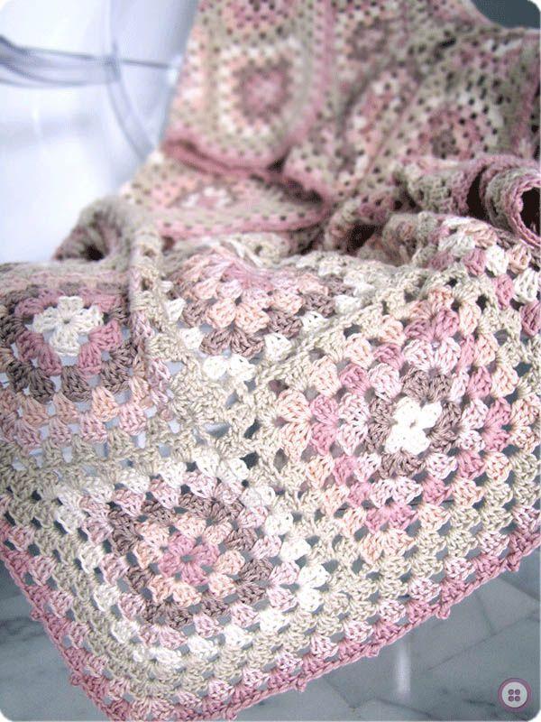Dorable Patrón De Crochet Ondulación Redondo Fotos - Manta de Tejer ...