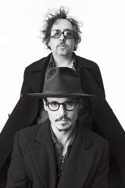 Johnny Depp e Tim Burton