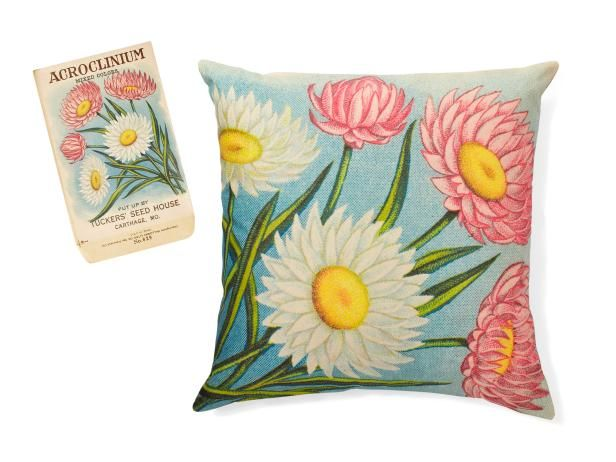 HGTV Magazine shares the steps to create this pretty pillow inspired by the familiar greenhouse item.