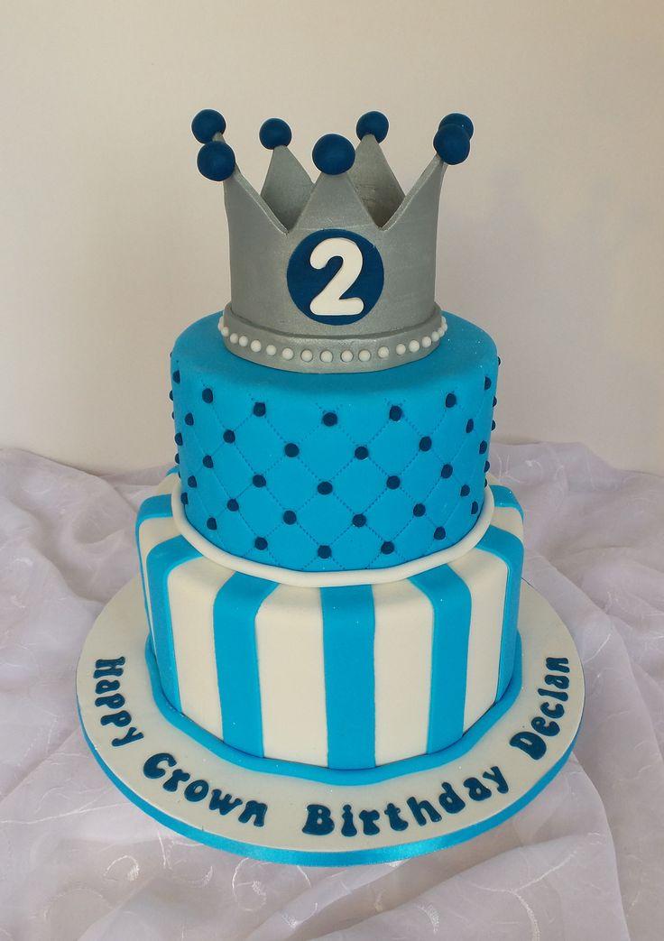 Boys crown birthday cake birthday cake kids cake