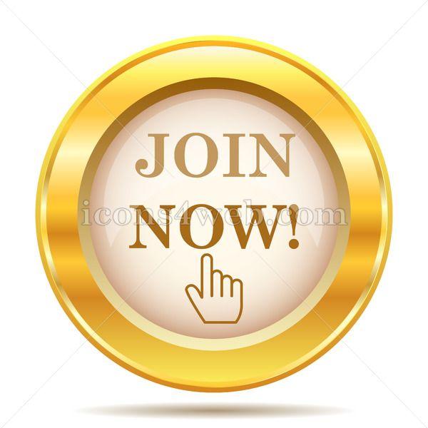 Join Now Golden Button Golden Buttons Internet Icon Web Design Icon