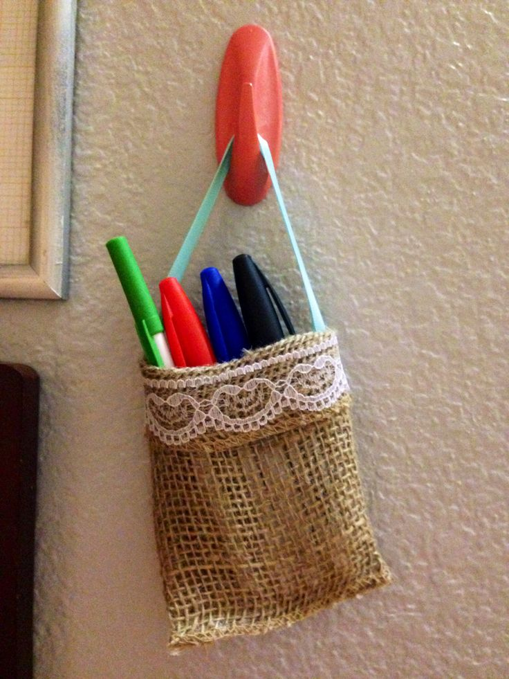 DIY Marker Holder Using dry eraser boards for organization