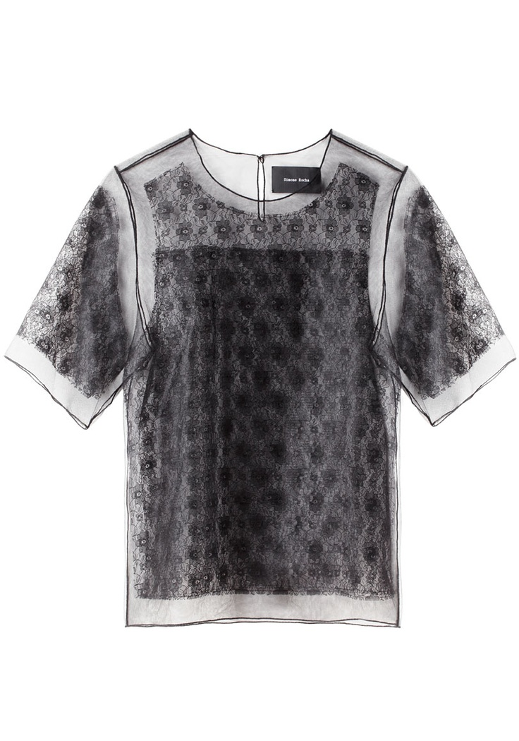 It looks so delicate!  I'd almost be afraid to wear it haha!    Simone Rocha, lace t-shirt