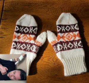 Free Knitting Pattern for Mad Men Mittens