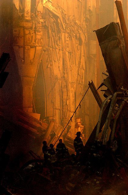 A very other wordly looking WTC 9-11-2001 ... seriously, it doesn't even look like a picture taken on Earth