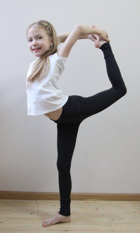 KIDS GIRLS LONG LENGTH SOFT STRETCH KIDS SCHOOL DANCE VISCOSE LEGGINGS