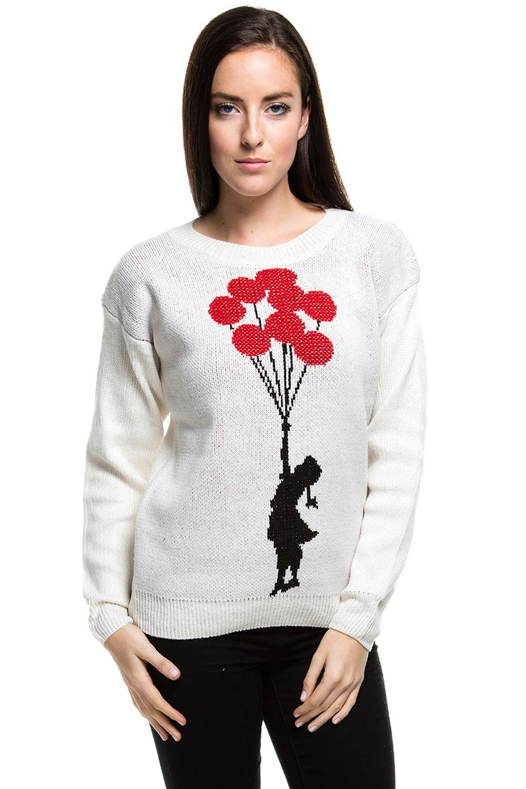 Pullover - Banksy - Ballon fliegendes Mädchen