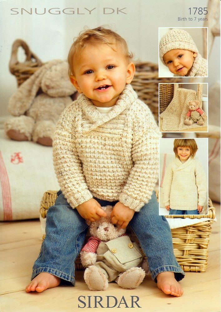 Childrens Sweaters, hat and Blanket in Sirdar Snuggly DK -1785. Discover more Patterns by Sirdar at LoveKnitting. The world's largest range of knitting supplies - we stock patterns, yarn, needles and books from all of your favorite brands.