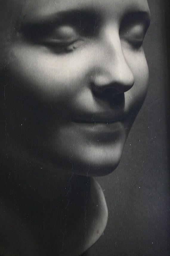 BOGO Sale L'Inconnue de la Seine Original Mask Signed Fine Art Photograph 7 by 9.5