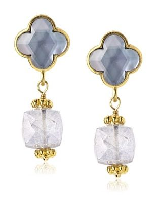 66% OFF Coralia Leets Steel Mini Lucky Charm Clover Dangly Earrings