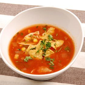 Tortilla Soup, a recipe from ATCO Blue Flame Kitchen's Holiday Collection 1999 cookbook.