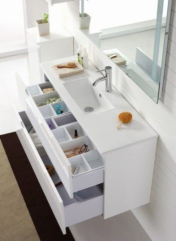'Aspen' 1200 Wall Hung White Vanity with Soft Closing Drawers - Contemporary Vanities For Modern Bathrooms by Nova Deko.