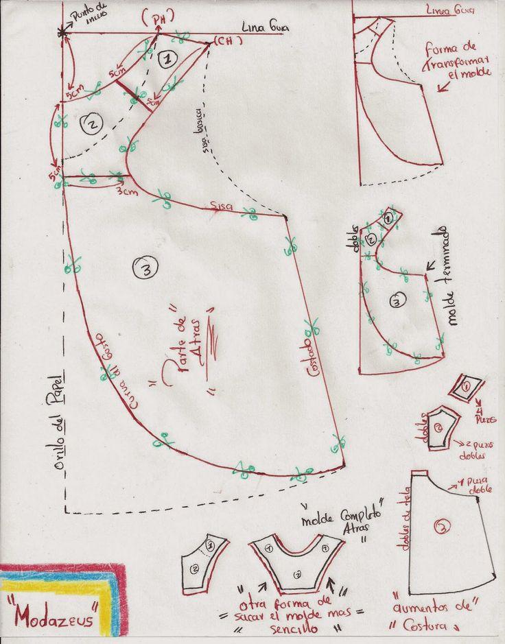 blusa manga sisa diseño campana           articulo creado por: modazeus       este diseño de blusa la vamos a sacar por medio de la blusa...