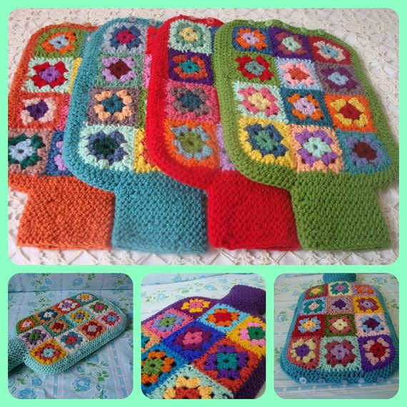 Hot Water Bottle Cover with Bottle included. $48.00, via Etsy.