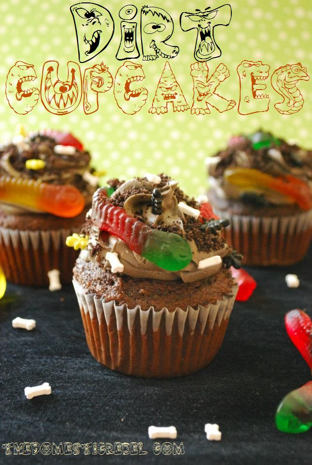 Dirt Cupcakes- this girl loves worms and dirt!