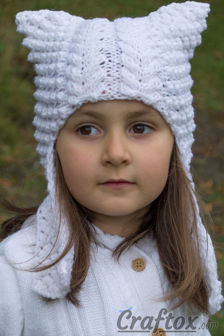 37 best hats free knitting patterns images on pinterest cat cat ear flap hat angel free knitting pattern the lovely and funny cat bankloansurffo Gallery