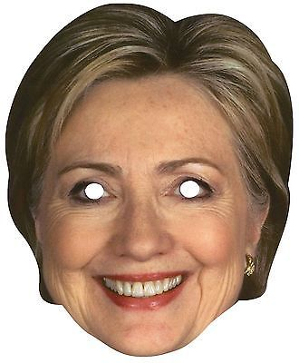 Hillary Clinton Mask Halloween Presidential Candidate Poster Paper Face Mask                                                                                                                                                                                 More