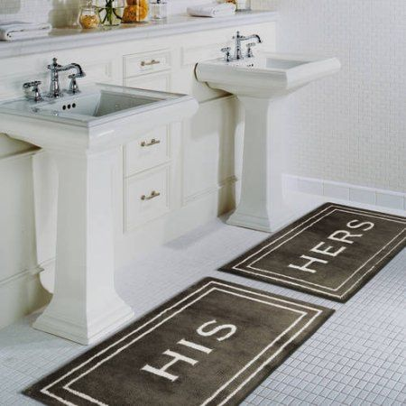 The His and Hers bath mats from #MohawkHome are the perfect wedding gift for newlyweds!