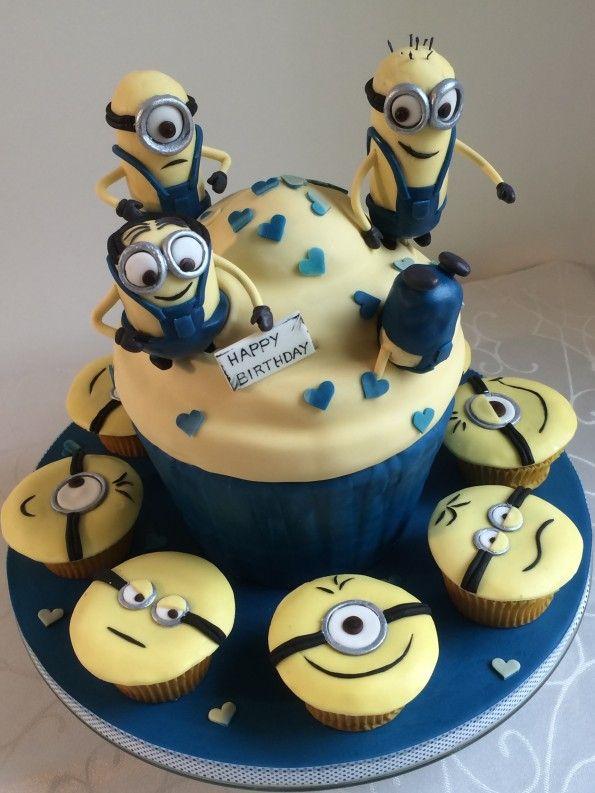 Minions Torte Riesen Cupcake