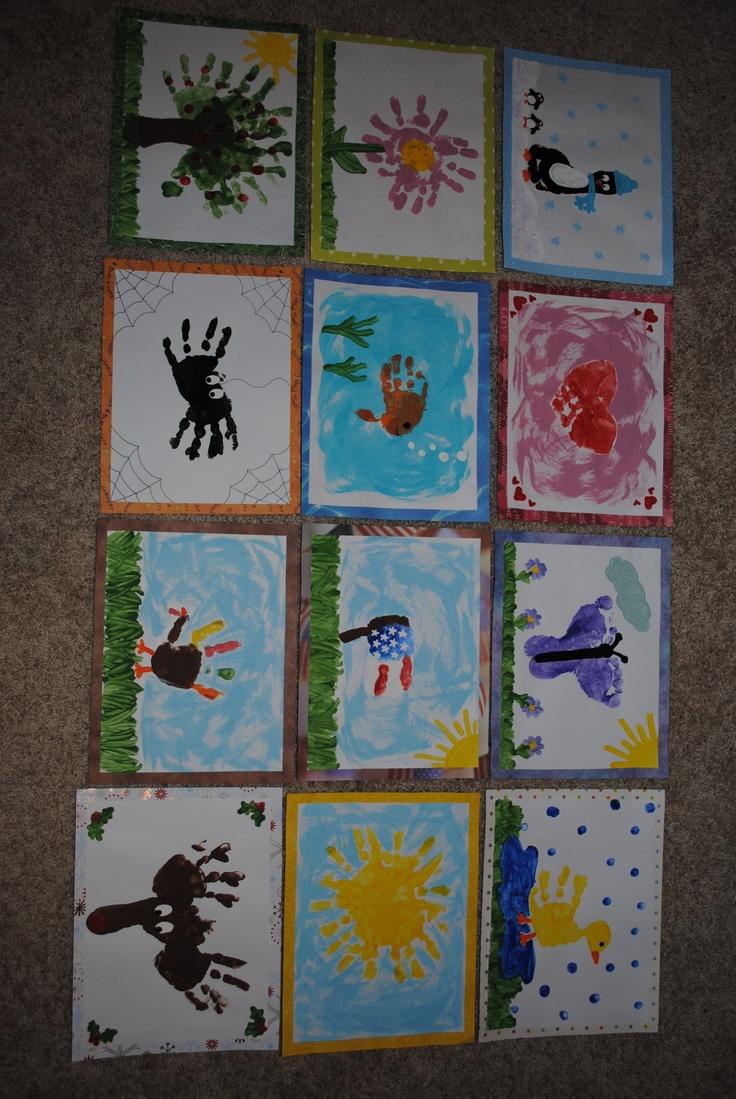 Hand print calendar: Gifts Ideas, Calendar Gifts, Calendar Ideas, Kids Crafts, Handprint Calendar, Christmas Ideas, Handprint Ideas, Students Gifts, Christmas Gifts