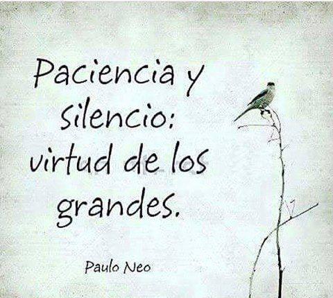 Paciencia y silencio...