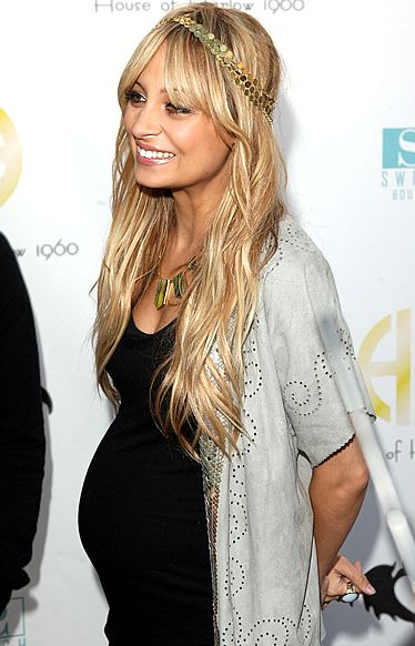 nicole richie pregnant - always rocking the boho